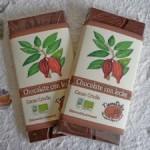 Chocolate ecológico y artesano con leche TierraDulce