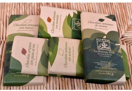 Chocolate sin azucar molienda verde