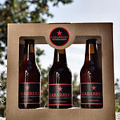 Cerveza Artesanal Ecológica Gabarrera pack tres botellas