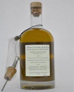 Aceite de oliva virgen extra; variedad manzanilla