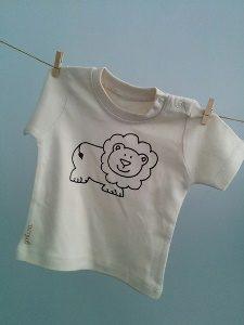 Camiseta manga corta algodón orgánico león